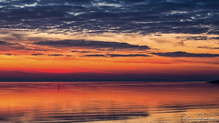 I do not like those gray days (BraCom (Bram)) Tags: 169 bracom bramvanbroekhoven goereeoverflakkee grevelingen herkingen holland nederland netherlands southholland zuidholland aftersunset avond cloud dijk dike evening gloed glow nazonsondergang reflection rustig sign silhouetten silhouettes spiegeling sunset tranquil wave widescreen winter wolk zonsondergang nl