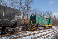 """""""He Knows When You're Getting Close""""... (Darryl Rule's Photography) Tags: 102 2017 baldwin blueridgewoodproducts buckscounty csao clouds cloudy ds44750 december diesel diesels fall freight freightcar freighttrain freighttrains interchange ktc local lumber mixedfreight morrisvilleyard ns norfolksouthern pa pw1 pennsylvania railroad railroads sd70 slrs sms smslines santa spartancab sun sunny tankcar tankcartrain tankcars tankers train trains"""