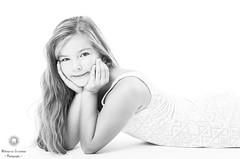 Bright (Xlavius) Tags: monochrome black white greypentax k5iis people studio high key child girl cute bright