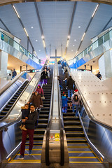 Opening Day (Jack Landau) Tags: highway 407 station ttc line 1 tysse toronto york spadina subway extension transit rapid escalators stairs concourse terminal building architecture city urban jack landau canon 5d mkii