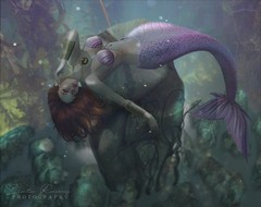 Poor Unfortunate Soul (ʟᴜɴᴀᴄʏ) Tags: secondlife sl second life fantasy mermaid underwater tail bento pose redhead argrace decoy