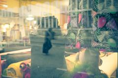 Paris, Montmartre - Marché Saint Pierre (boris maillard) Tags: paris montmartre marchésaintpierre street streetphotography store fabric tissue reflection man walking