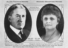 Allen & Madora Moore, Monticello, IL in MHS Year Book 1926 (RLWisegarver) Tags: piatt county history monticello illinois usa il