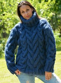 Heavy mohair wool turtleneck