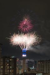 Fuegos artificiales 10/10 (ErFelipe13) Tags: fireworks fuegos artificiales santiago 2018 torre entel tower año nuevo night sonya6300 new year noche 50mm