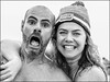 Cold.... (Chris 1971) Tags: strandplaats nederzandt polar plunge nieuwjaarsduik man vrouw bloke kerel lady dame female male muts hat unox smile glimlach portrait portret fotogeniek photogenic