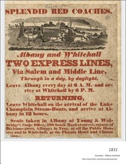 albany and whitehall express coach lines  1831 (albany group archive) Tags: 1830s old albany ny vintage photos picture photo photograph history historic historical stage