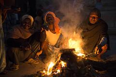 at night in Varanasi, India India. (Pierangelo Gramignola) Tags: india varanasi benares gange night ghat humanity tribal ethnic fire men lowlight