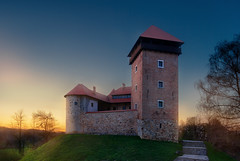 Dubovac Castle (dokson_) Tags: croatia karlovac castle landscape blending hill sunset summer travel europe pentax grass architecture pentaxk10d