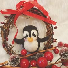felted penguin (Uniquekerer) Tags: needlefelted needlefelt fibreart handmade handcrafted decorations craft