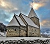 Hove Church from 1170 A.D (13HICKMAN77) Tags: church norway norge vik sogn winter holy colors snow steeple cross christian stone sundaylights