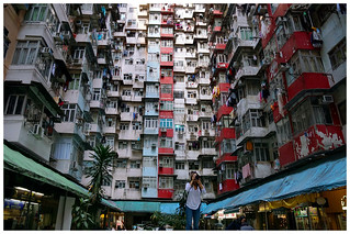 Crowded apartment buildingsCrowded apartment buildings through the lens