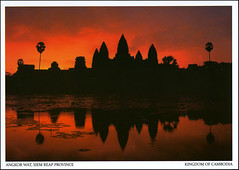 postcard - Angkor Wat, Cambodia 2 (Jassy-50) Tags: postcard angkor angkorwat temple siemreap cambodia angkorarchaeologicalpark khmer archaeology ancient ruins unescoworldheritagesite unescoworldheritage unesco worldheritagesite worldheritage whs sunset reflections