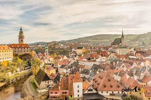 Town of Cesky Krumlov in Czech Republic