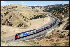 AMTK 156 (golden_state_rails) Tags: amtk amtrak tehachapi pass atsf sp up clear creek ravine ca california heritage amtk156 bealville cliff