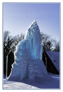 Every year these folks up the road from us set up their sprayers and lights and create this sort of large ice sculpture. I refer to it as