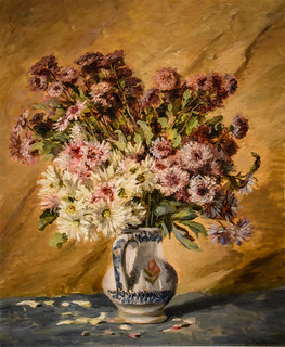 Gustave Caillebotte - Bouquet of China Asters and Sunflowers in a Vase, 1887 at New Orleans Museum of Art - New Orleans LA
