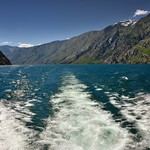 A Ship's Wake and Mountain Peaks of the South Methow Mountains and North Chelan Mountains thumbnail