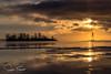 Île Dixie (www.sophiethibault.ca) Tags: coucherdesoleil fleuve stlaurent île lachine îledorval rivage hiver glaces calme eau ciel québec canada cold river sun sunset bouée