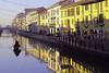 Milano Ticinese (ploh1) Tags: mailanditalien ticinese kanal morgenstimmung häuser bunt schöneswetter spiegelung boot