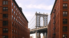 Manhattan bridge (poludziber1) Tags: street streetphotography skyline summer sky city colorful cityscape color colorfull building bridge ny nyc newyork light clouds urban usa travel