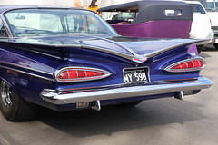 Rear View Transport (*SIN CITY*) Tags: ford transport car caddy cadillac chev chevy hot rod hotrod 7d camaro canon queensland qld australia backtobrunswick 52 32 34 49 chopped oldschool taillights americancarsinaustralia american mg convertible ranchero cars carshow v8 vehicle wheels motor morris lights rear end musclecar muscle cuda mercury sled chrysler valiant charger challenger mustang