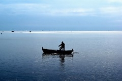 Fisherman at The Edge Of Horizon #seascape #people  #photography #arts #artofphotography #color #fine_art #nature #landscape #jurnalism (Maringan Tobing) Tags: nature arts color jurnalism artofphotography seascape landscape fineart people photography