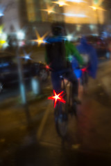 Starring a Bicycle (suzanne~) Tags: bike bicycle munich germany star light traffic lensbaby composerpro softfocusoptic stardisc blur soft cyclist stachus