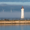 New Brighton Lighthouse (Mister Oy) Tags: newbrighton lighthouse d850 nikon85mmf14gafs light shore coast liverpool windfarm power fog foggy nikon nikond850 winter weather architecture reflection water quay port harbour harbor square 85mm