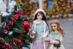 Christmas market (Luthigern) Tags: bjd dollmore zaoll volks maria msd sd holiday winter christmas