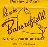Vintage Matchbook Cover - Rancho Bakersfield Motel (hmdavid) Tags: vintage matchbook matchcover midcentury art illustration 1950s rancho bakersfield motel cocktail glass highway 99 cowboy hat