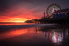 Snowman in Santa Monica (FotoByOliver) Tags: sunset snowman santa monica pier beach los angeles usa route 66 end california us architecture sea ocean ozean meer pacific water sun people tourist attraction landmark park america amerika travel united states