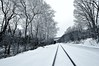 Cold shot (mpalmer934) Tags: railroad tracks woods forest creek outdoors winter scenery