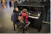 Elton John's Yamaha Piano, St. Pancras Station. (Bristol RE) Tags: stpancrasstation stpancras london station yamaha piano sireltonjohn