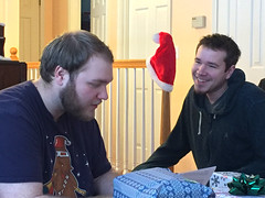 Brandon and Daniel (knoopie) Tags: 2017 december iphone picturemail brandon daniel family posey santahat christmas