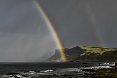 Somewhere Over The Rainbow - Explored (rdspalm) Tags: rainbow justbeforetherain ballycastle storm stormyseas nikond850 ireland northernireland