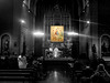 The Holy Trinity in The Hospitality of Abraham (Fnikos (away for a few)) Tags: church iglesia església santjaume sanjaime icon byzantine trininy holytrinity hospitality painting indoor