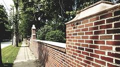 M Kirby Hosp (Allen F. Moore Estate) c1912 Brick Fence, 1111 N. State St, Monticello, IL 20170731-20 (RLWisegarver) Tags: piatt county history monticello illinois usa il