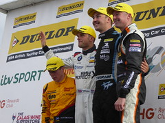 BTCC Round 21 podium (Steelywwfc) Tags: british touring car championship knockhill racing circuit tom ingram speedworks motorsport gordon shedden halfords yuasa colin turkington team bmw rory butcher shredded wheat with duo