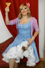 50's Glamour (Paula Chester) Tags: tg tgirl tgurl trannie transvestite ladyboy crossdress crossdresser crossdressing 50s fashion glamour tv ts petticoated cheers