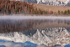 The Autumn Holdout (Kristin Repsher) Tags: alberta canada canadianrockies jasper jaspernationalpark patricialake rockies rockymountains telephotolandscape winter ca