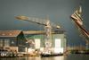 Monnickendam, harbour sight (Boudewijn Vermeulen ) Tags: elara monnickendam architecture building crane darksky factory fotograferen kerst labour publ shipbuilding shipyard structure traditional winter