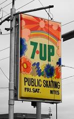 Thank you, Peter Max (David Sebben) Tags: peter max 7up soft drink advertisement roller skating shenandoah iowa artist popart