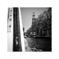amsterdam, netherlands (schan-photography.com) Tags: canoneos5dmarkii canonef24105mmf4lisusm amsterdam netherlands monochrome bw blackandwhite canal water boat trees square canon 5d 24105mm f4 travel