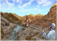 Exodus 04 - Burning Bush - Scene 07 - Aaron (Martin Young 42) Tags: exodus exodus0469 moses aaron brothers valley walking mountsinai sinaipeninsula midian