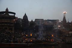 Crematorium by Ganga River (alihankuşaklı) Tags: kite crematorium ganga gangariver varanasi india ghat manikarnika manikarnikaghat deathburn burning