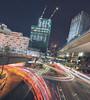 Shibuya new vision (spiraldelight) Tags: tse17mmf4l eos5dmkii shibuya 渋谷 tokyo 東京 traffictrails lightstream night cityscape