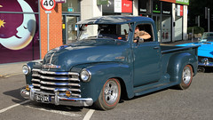 1949 Chevrolet 3100 Pickup 672 UXM (BIKEPILOT, Thx for + 4,000,000 views) Tags: 1949 chevrolet 3100 pickup 672uxm truck vehicle transport americana automobile blue camberleycarshow carshow camberley surrey britain uk towncentre