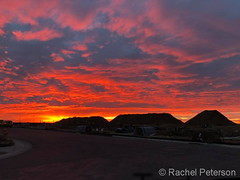 Deecmber 13, 2017 - Gorgeous sunrise as seen from Commerce City. (Rachel Peterson)