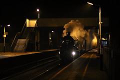 Alfreton at night (Andrew Edkins) Tags: 5043 earlofmountedgcumbe greatwestern gwr alfreton mainlinesteam railwayphotography christmaswhiterose uksteam geotagged canon travel trip december 2017 winter derbyshire england uk